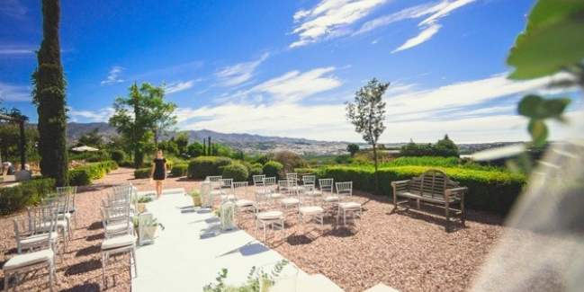 Cortijo Bravo garden view at wedding